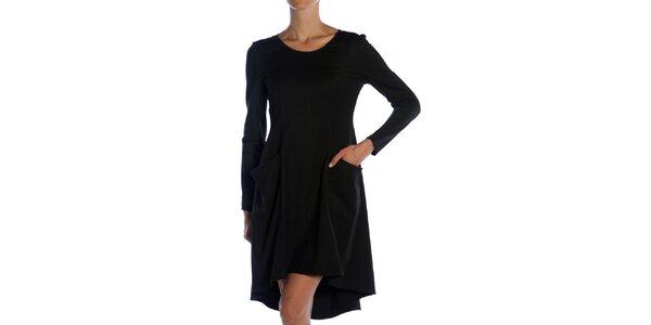 Dámské černé šaty s kapsami Lora Gene