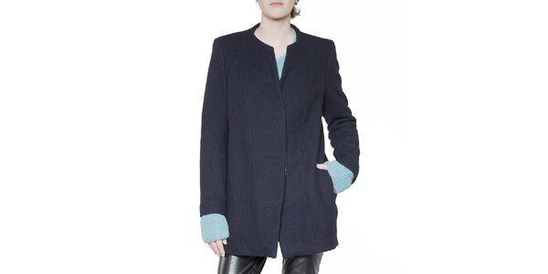 Dámský tmavě modrý krátký kabát Gene