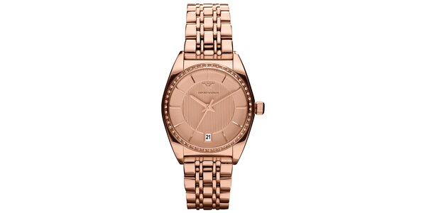 Dámské hodinky Emporio Armani v barvě růžového zlata