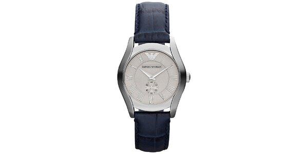 Dámské analogové hodinky s tmavě modrým řemínkem Emporio Armani