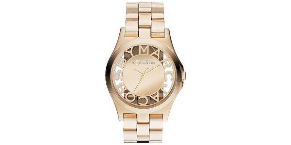 Dámské pozlacené hodinky Marc Jacobs