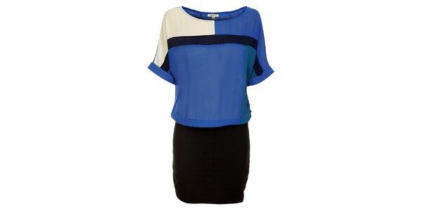Dámské modro-černé šaty Lucy Paris