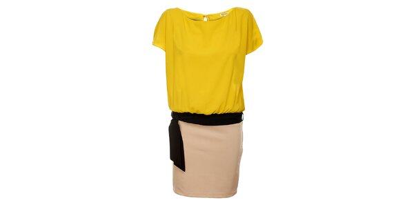 Dámské žluto-béžové šaty Lucy Paris