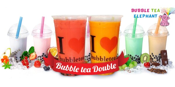 1 l nápoje Bubble Tea Double v centru Brna