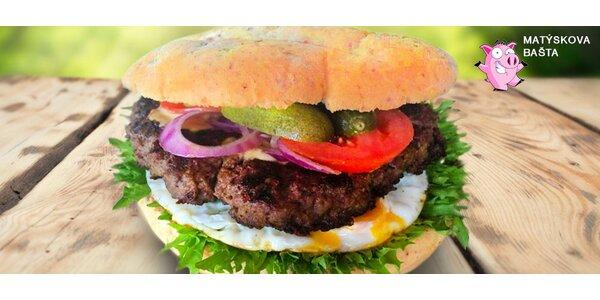 Obrovský 800gramový burger včetně rozvozu