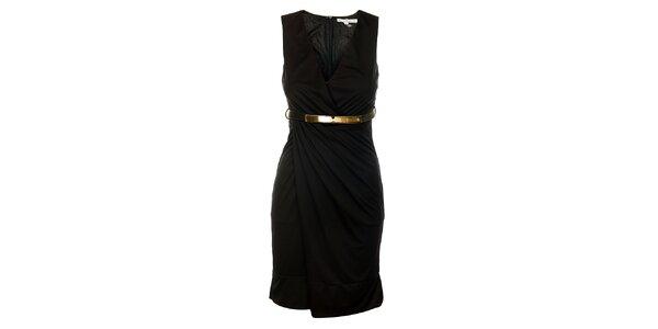 Dámské černé šaty Lucy Paris s páskem