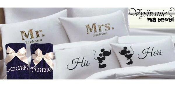 Ručníky nebo povlaky na polštář s vlastním nápisem