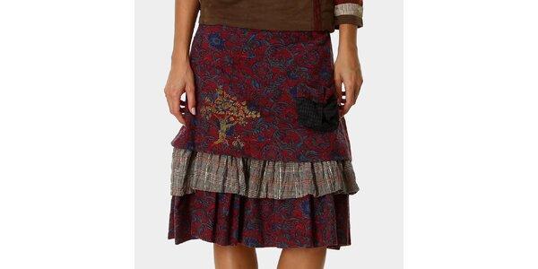 Dámská červená sukně se vzorem Ian Mosh