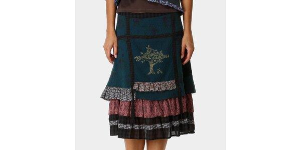 Dámská zelená sukně s potiskem Ian Mosh