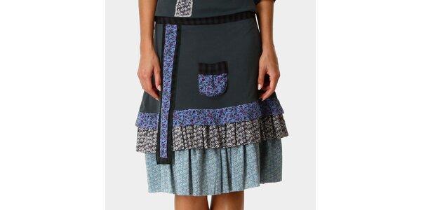 Dámská zelená sukně se vzorovanými kanýry Ian Mosh