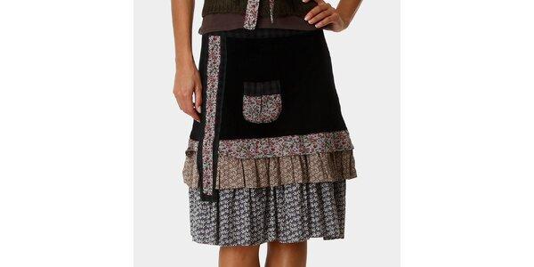 Dámská černá sukně se vzorovanými kanýry Ian Mosh