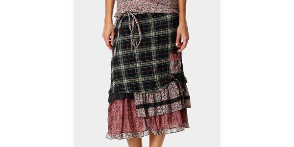 Dámská vzorovaná sukně s volánky Ian Mosh