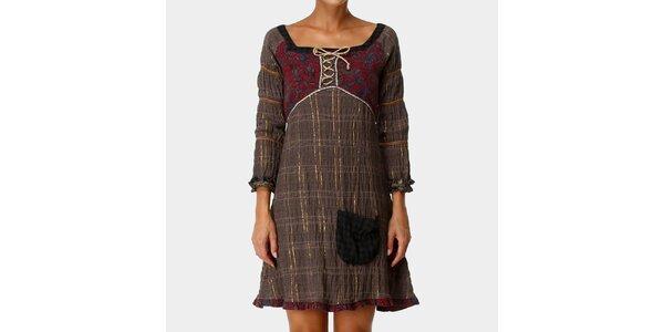 Dámské hnědé šaty s kapsičkou Ian Mosh