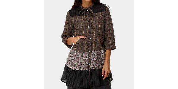 Dámské vzorované šaty s knoflíčky Ian Mosh