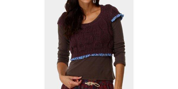 Dámský top s tmavě fialovým svetříkem Ian Mosh