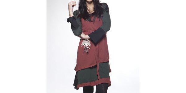 Dámské vrstvené dvojité šaty s veselým obrázkem Ian Mosh