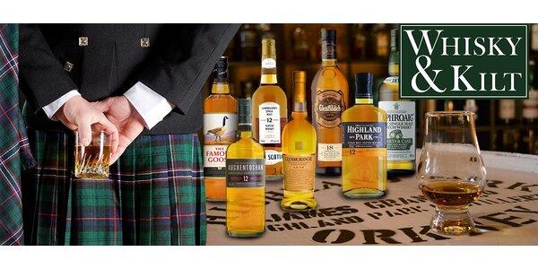 Degustace 7 panáků whisky nejen pro začátečníky