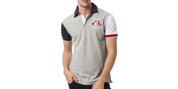 Pánské polo tričko s barevnými rukávy Giorgio Valenti