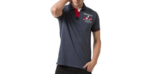Pánské polo tričko s krátkým rukávem a výšivkou Giorgio Valenti