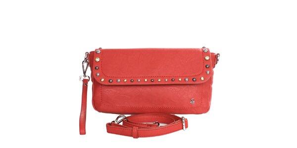 Dámská červená kabelka s odepínacím popruhem United Colors of Benetton