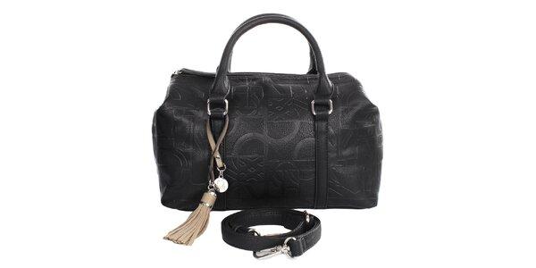 Dámská černá kabelka se střapcem United Colors of Benetton