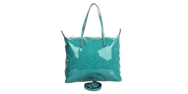 Dámská tyrkysová lakovaná kabelka United Colors of Benetton