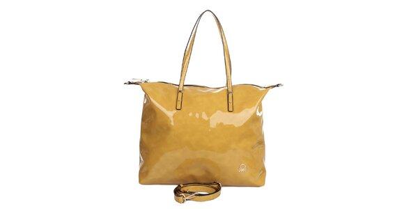 Dámská žlutá lakovaná kabelka United Colors of Benetton