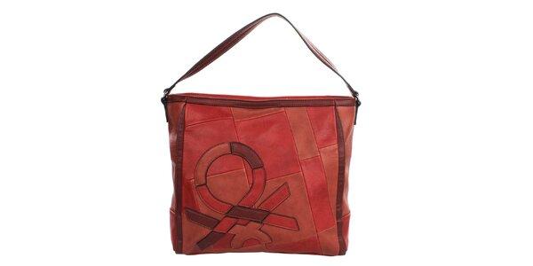 Dámská červená kabelka s popruhem United Colors of Benetton