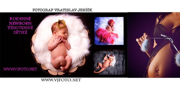 Novorozenecká, rodinná, dětská nebo těhotenská fotografie