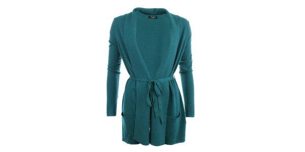 Dámský delší svetr v zelené barvě Smiton
