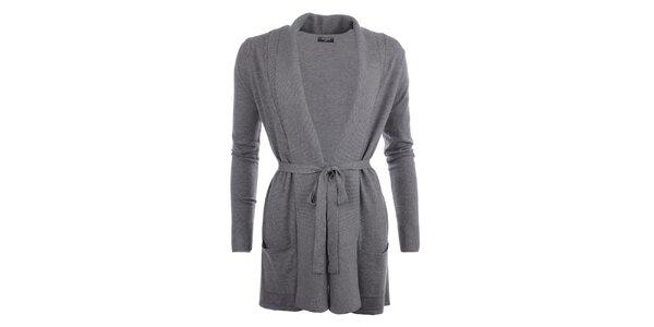 Dámský delší svetr v šedé barvě Smiton