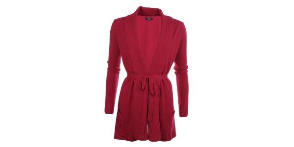 Dámský delší svetr v červené barvě Smiton