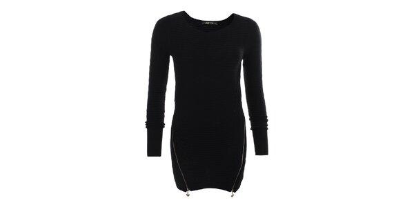 Dámský černý svetr se zipy JOYX