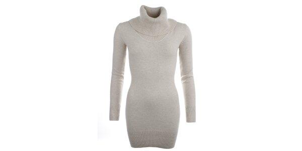 Dámský béžový svetr s rolákem Beauty Women