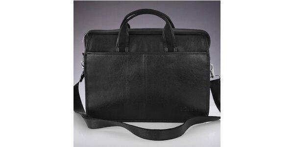 Pánská černá taška přes rameno Solier