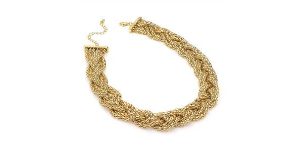 Dámský proplétaný náhrdelník ve zlatém tónu Carmen Luna