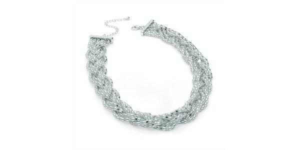 Dámský proplétaný náhrdelník ve stříbrném tónu Carmen Luna