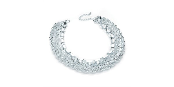 Dámský třířadý náhrdelník ve stříbrném tónu Carmen Luna
