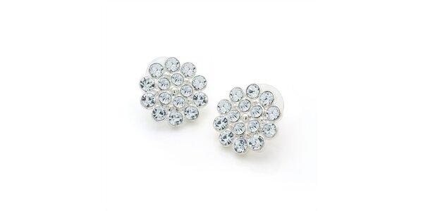 Dámské náušnice s kulatými krystalky Carmen Luna