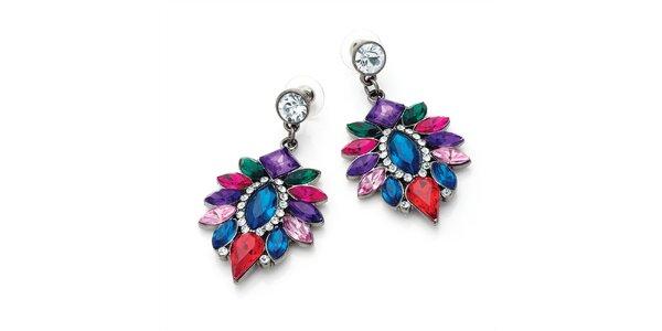 Dámské náušnice z barevných krystalků Carmen Luna