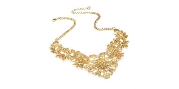 Dámský elegantní náhrdelník ve zlaté barvě Carmen Luna