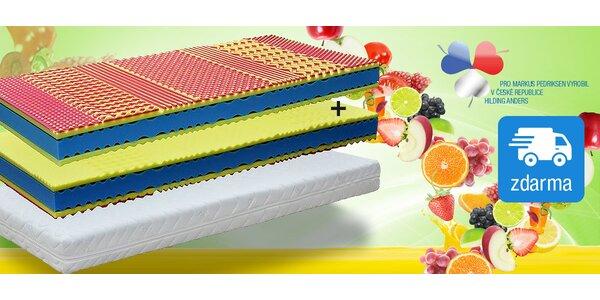 České matrace Fruity HARD 90x210 cm 1+1 zdarma