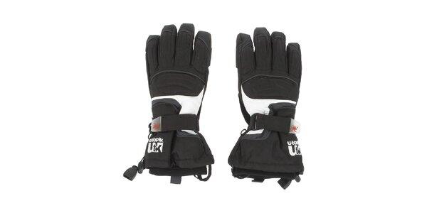 Pánské černé lyžařské rukavice E2ko
