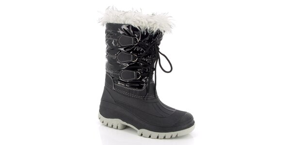 Dámské černé zimní boty s kožíškem E2ko