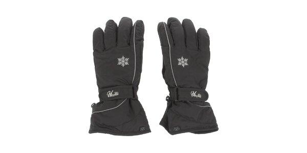 Dámské černé lyžařské rukavice E2ko