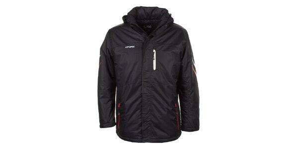Pánská černá bunda s bílou náprsní kapsou E2ko