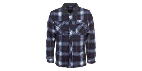 Pánská kostkovaná košile s dlouhým rukávem E2ko