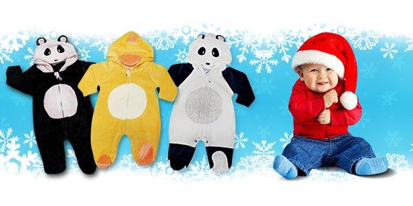 Dětské zvířátkové kombinézky nebo sety v 5 designech