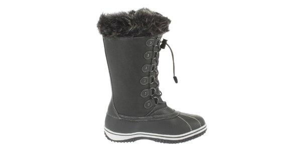 Dámské vysoké šedé zimní boty Vertigo