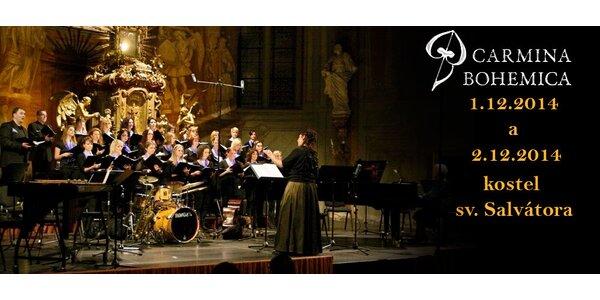 Vstupenka na adventní koncert sboru Carmina Bohemica